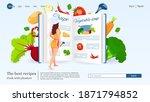 website design  woman reading... | Shutterstock .eps vector #1871794852