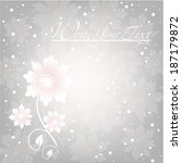 wedding card or invitation with ... | Shutterstock .eps vector #187179872