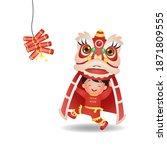 asian boy celebrate lunar new... | Shutterstock .eps vector #1871809555