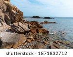 rugged coastline  rocks on the... | Shutterstock . vector #1871832712