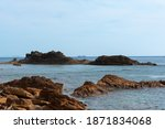 rugged cliffs in the sea ... | Shutterstock . vector #1871834068
