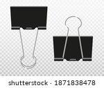 black metal binder clips... | Shutterstock .eps vector #1871838478