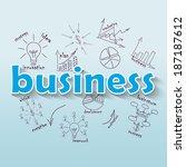 business plan concept ideas | Shutterstock .eps vector #187187612