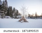 the frozen razderikha river.... | Shutterstock . vector #1871890525