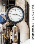 pressure gauge in oil and gas... | Shutterstock . vector #187197446