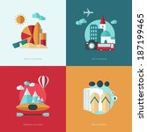 set of vector flat design... | Shutterstock .eps vector #187199465