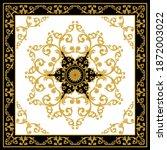golden decorative baroque... | Shutterstock .eps vector #1872003022
