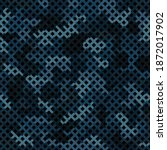 blue water halftone camouflage... | Shutterstock .eps vector #1872017902