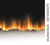 burning white sheet of paper...   Shutterstock .eps vector #1872025075