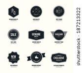set of retro minimalistic ... | Shutterstock .eps vector #187213322