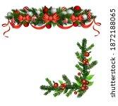 christmas holly brunches...   Shutterstock .eps vector #1872188065