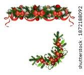 christmas holly brunches...   Shutterstock .eps vector #1872188092