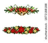 christmas holly brunches...   Shutterstock .eps vector #1872188188