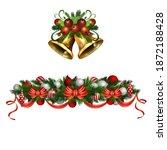 christmas holly brunches...   Shutterstock .eps vector #1872188428