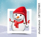 christmas photo frame with... | Shutterstock .eps vector #1872229885
