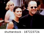 demi moore  bruce willis at the ... | Shutterstock . vector #187223726