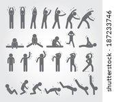 Body Exercise Stick Figure Ico...