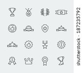 vector awards mini icons set | Shutterstock .eps vector #187235792