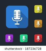 microphone icon | Shutterstock .eps vector #187236728