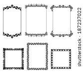 set frame | Shutterstock . vector #187237022