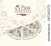 Pizza Menu Restaurant  Hand...