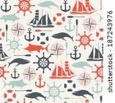 seamless pattern from sea... | Shutterstock .eps vector #187243976