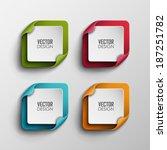 vector banners set  | Shutterstock .eps vector #187251782