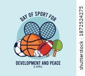 day of sport for development...   Shutterstock .eps vector #1872524275