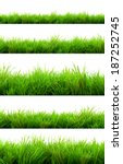 gorgeous green grass summer... | Shutterstock . vector #187252745