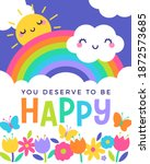 colorful typography design and... | Shutterstock .eps vector #1872573685