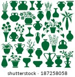image of green icons vases and... | Shutterstock .eps vector #187258058