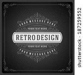 retro chalkboard typographic... | Shutterstock .eps vector #187259552