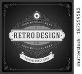 retro chalkboard typographic... | Shutterstock .eps vector #187259582