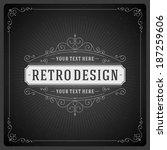 retro chalkboard typographic... | Shutterstock .eps vector #187259606