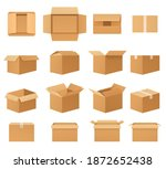 empty cardboard packages boxes  ...   Shutterstock .eps vector #1872652438