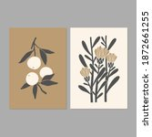 linocut art. modern posters... | Shutterstock .eps vector #1872661255