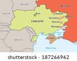 ukraine crisis map. pro... | Shutterstock .eps vector #187266962