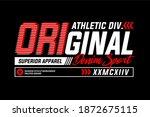 athletic sport typography...   Shutterstock .eps vector #1872675115