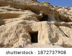 Caves On The Beach Of Matala In ...