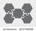 simple icon hexagon puzzle in...