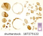vector coffee stain  isolated... | Shutterstock .eps vector #187275122