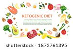 keto diet banner  landing page  ... | Shutterstock .eps vector #1872761395
