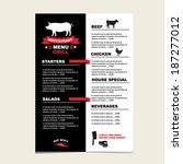 cafe menu grill  template... | Shutterstock .eps vector #187277012