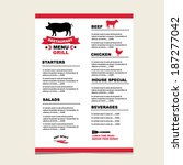 cafe menu grill  template... | Shutterstock .eps vector #187277042