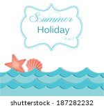beach and ocean layout with... | Shutterstock .eps vector #187282232