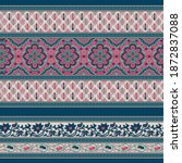 seamless paisley border pattern ... | Shutterstock .eps vector #1872837088