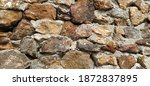 Stone Wall. Stacked Large...