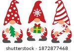 three christmas gnomes vector...   Shutterstock .eps vector #1872877468