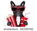 dog going to the movies with... | Shutterstock . vector #187290782