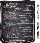 chalkboard dessert menu. eps10 | Shutterstock .eps vector #187290848